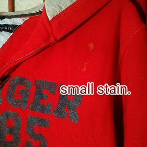Tommy Hilfiger Tops - GUC Tommy Hilfiger red hoodie, large juniors